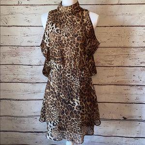 Cotton Candy Leopard Backless Dress